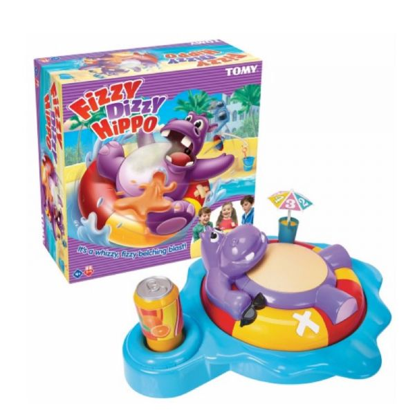 Tomy Fizzy Dizzy Hippo Children's Preschool Action Game 4+ Years